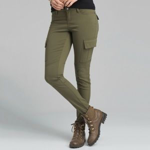 Prana Meme Cargo Skinny Pant In Cargo Green